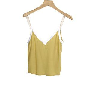 Free People V-Neck Camisole Crepe Tank Top